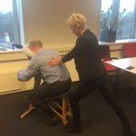 """Stoelmassage bij bedrijfsfeest in 'Het Kasteel"""" Rotterdam"""